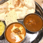 インド料理ムンバイ四谷店+The India Tea House - バターチキンとブラックペッパーチキン
