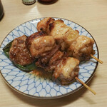 江戸政 - ピーマン肉詰め、焼鳥、ハートスタミナ