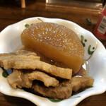 酒処 静 - 大根と豚バラ煮 400円