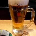 すしやの山孝 - プレモル(生ビール)500円