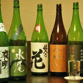 豊富な地酒と本格焼酎!!