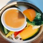 121675098 - 温野菜、美味し!柚子味噌おすすめ