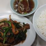 千成亭 - 料理写真:レバニラ炒め定食¥840
