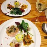 魚タリアン YO - 前菜盛り合わせ テリーヌやら、カルパッチョやら、ムースやら〜( ´∀`)