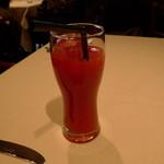 リストランテ カノビアーノ - 赤いオレンジジュース