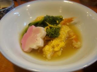 喜代 - 海老黄身煮 菜の花添え