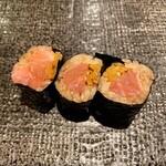 寿司 赤坂 - とろたく巻き