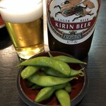江戸藤 - ビールにお通し