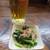 居酒屋 女酋長 - 料理写真:オリオン生(500円)とお通し