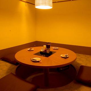ゆったり落ち着ける完全個室をご用意!ご宴会や接待にどうぞ