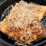鶏爛漫 - とろろ焼きはこんな感じ。お豆腐入ってる感じ!