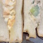 ブーランジェリー ブリュン - サンドイッチ、タマゴとツナ