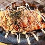 鶏爛漫 - とんぺい焼き。細切れの豚バラでした!