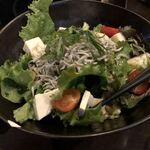 黄金屋 - 豆腐とジャコのサラダ