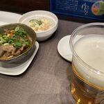 串かつ 作々 - 「ほろ酔いセット」(ポテサラ)(どて焼き)