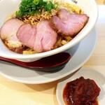 麺庵ちとせ - 汁なし担担麺・チャーシュー&辛味増し