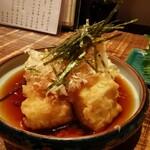 虹晴れ - 揚げ出しもち豆腐( ゚Д゚)ウマー