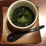 121726507 - 牛骨と河豚出汁の茶碗蒸し