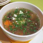 スカズカ - グリブイノイスープ(1000円・外税) きのこのスープ