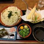 四國うどん - 天ざるうどんさば寿司