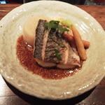 リトルキッチン - 本日のおすすめ鰆のソテー粒マスタードソース\780