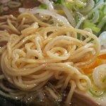モーモーとんちゃん - 醤油ラーメン(麺はこんな感じ)