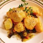 ラ・ヴィゴット - 里芋のチーズフリットジェノベーゼ風味・ラタトゥイユ添え:980円