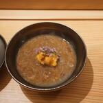 121761291 - せいこ蟹外子、内子のスープにうに