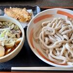 小平うどん - 肉増しうどん(900円)+味付たまご(100円)+かしわ天(150円)