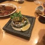 寿し栄 - 鮑ステーキ!