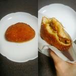 カスカード - 辛口エビカレーパン(結構スパイシーで初購入ですがいつものカレーパン勝ち(笑))