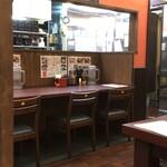 シンショー製麺うどん なべちゃん - カウンター席です