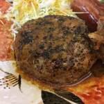 シンショー製麺うどん なべちゃん - 自家製手ごねハンバーグです
