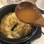 麺屋 食べてイケ麺 - 残りのスープを入れてリゾットに