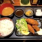 炙処 火ノ膳 - カキフライ定食(980円)