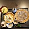 蕎麦の実 よしむら - 料理写真:天ざる プラスメニュー 親子丼 細切り