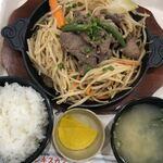 松尾ジンギスカン - 料理写真:ジンギスカン定食(マトン)