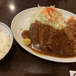 121829636 - 特選ヒレとんかつ&クリームコロッケ定食(¥1200)