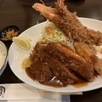 121829643 - 特選ロースとんかつ&海老フライ定食(¥1500)