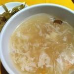 12183059 - ランチのスープとザーサイ