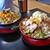らーめん家 コトブキ - 料理写真:ゴマ野菜らーめん(大盛)(左)& ゴマ野菜らーめん(ゴマ濃い目・ちゃーしゅートッピング・ネギ増し・コーントッピング)