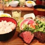 山芳ばる - ステーキプレート 島根牛 ¥1380