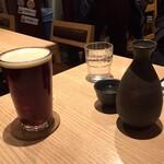 TOWA 麦酒と日本酒と蕎麦 - ビールと熱燗で乾杯~