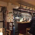 TOWA 麦酒と日本酒と蕎麦 - タップがずらり・・