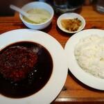 富士力食堂 - 大玉ハンバーグ 890円