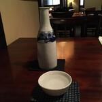 蕎麦懐石 無庵 - 酒 (喜正 ぬる燗)