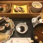鶴べ別館 - 料理写真:昼の遊膳 1000円(税別)(2019.12.現在)
