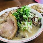 麺工房 ラーメン いち - もやしラーメン&ミニ炒飯