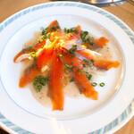 千葉ビール園 - 鮭のカルパッチョ