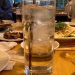千葉ビール園 - 芋焼酎の水割り